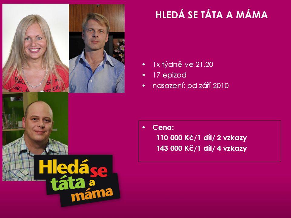 HLEDÁ SE TÁTA A MÁMA 1x týdně ve 21.20 17 epizod