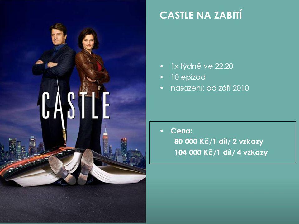 CASTLE NA ZABITÍ 1x týdně ve 22.20 10 epizod nasazení: od září 2010