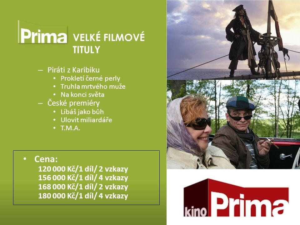 VELKÉ FILMOVÉ TITULY Cena: Piráti z Karibiku České premiéry