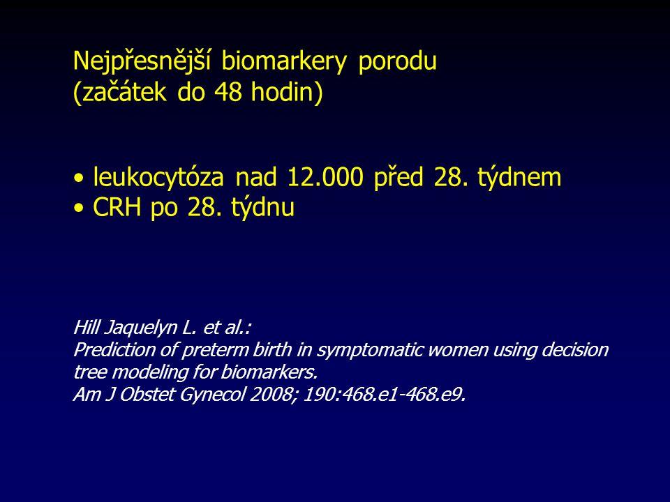 Nejpřesnější biomarkery porodu (začátek do 48 hodin)