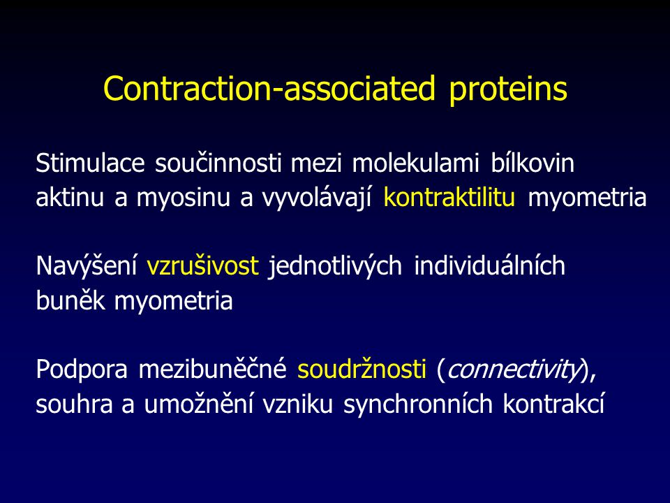 Contraction-associated proteins