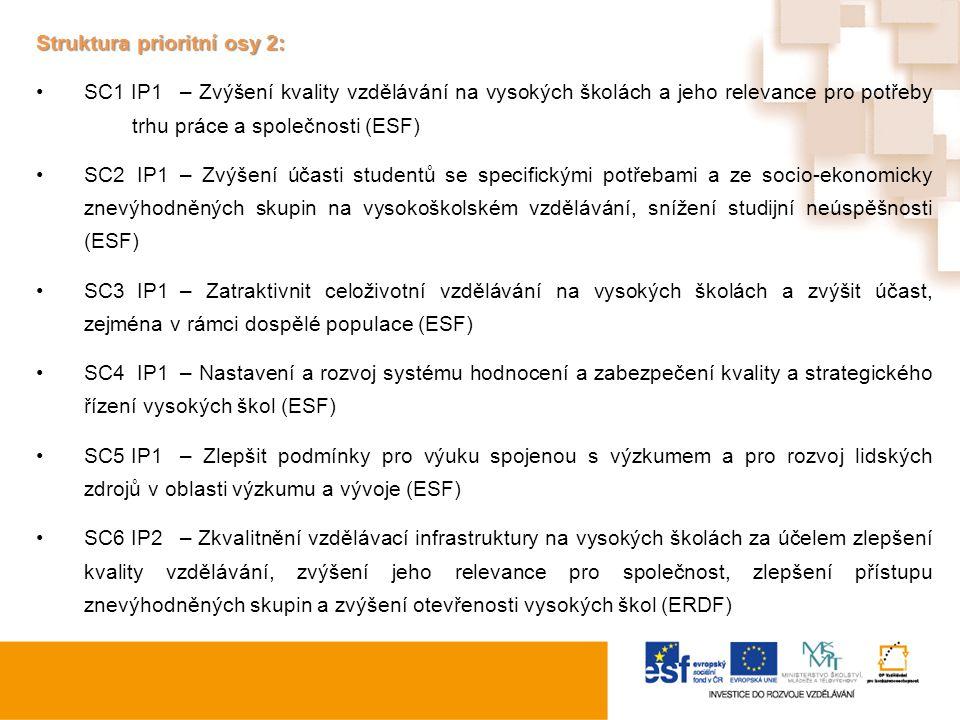 Struktura prioritní osy 2: