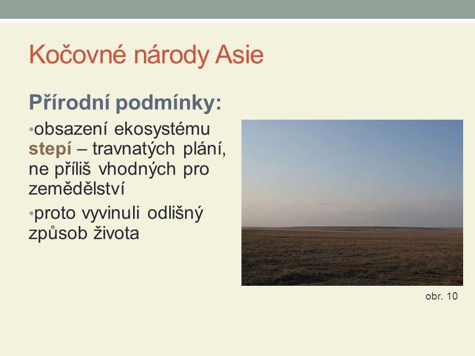 Kočovné národy Asie Přírodní podmínky: