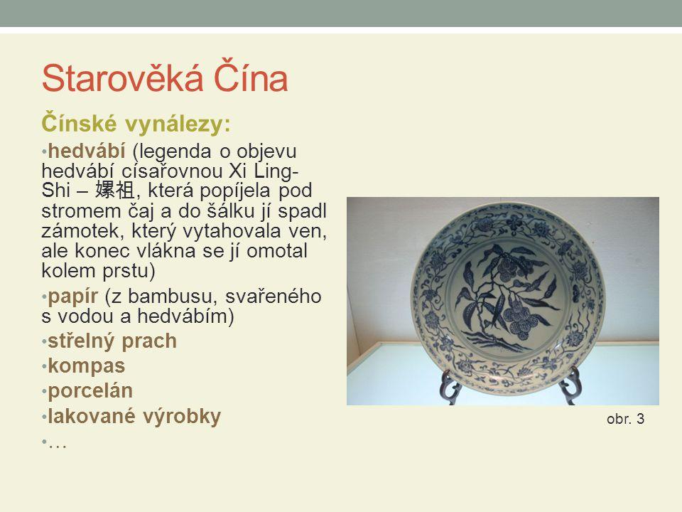 Starověká Čína Čínské vynálezy: