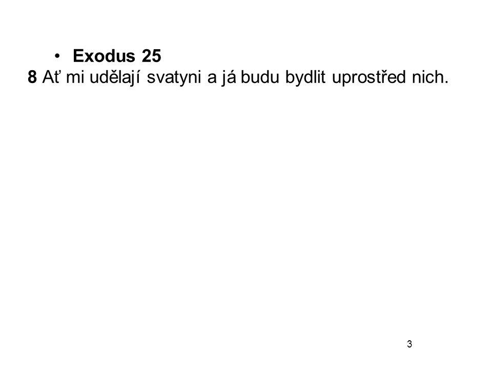 Exodus 25 8 Ať mi udělají svatyni a já budu bydlit uprostřed nich.