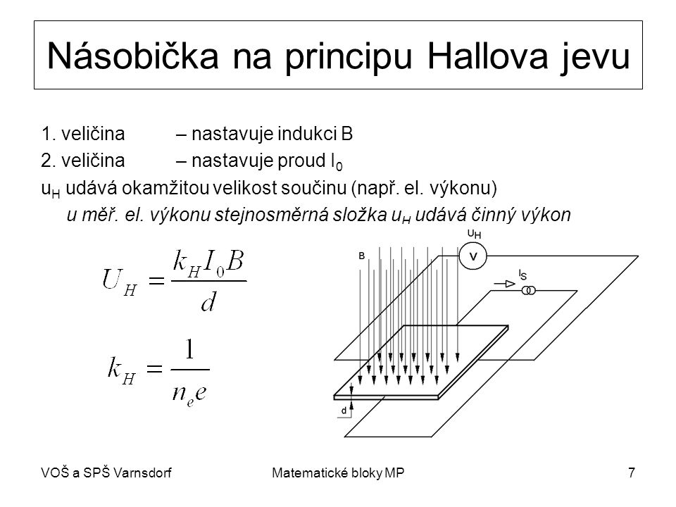 Násobička na principu Hallova jevu