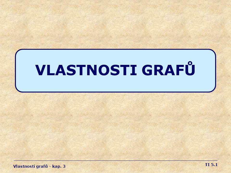 VLASTNOSTI GRAFŮ Vlastnosti grafů - kap. 3