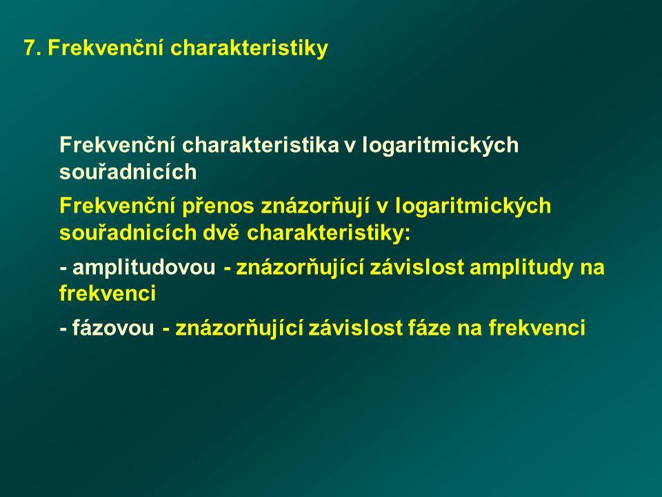 7. Frekvenční charakteristiky