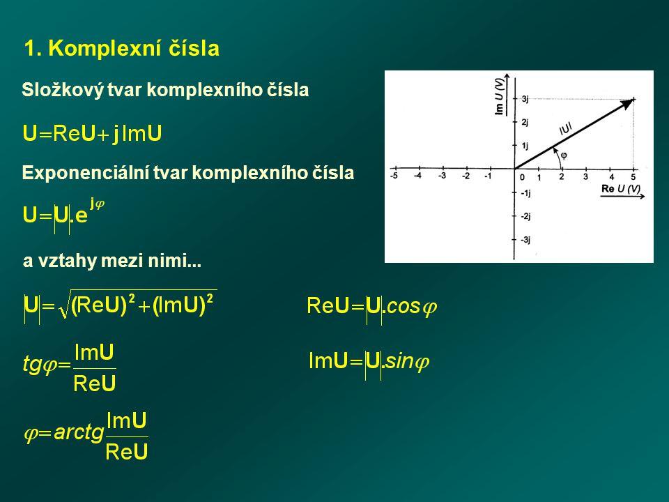 1. Komplexní čísla Složkový tvar komplexního čísla
