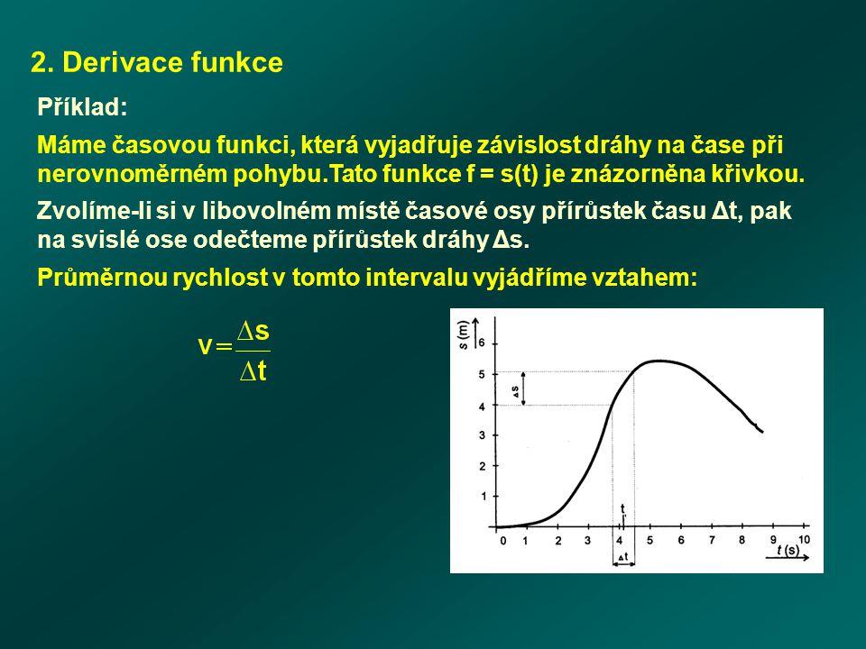 2. Derivace funkce Příklad: