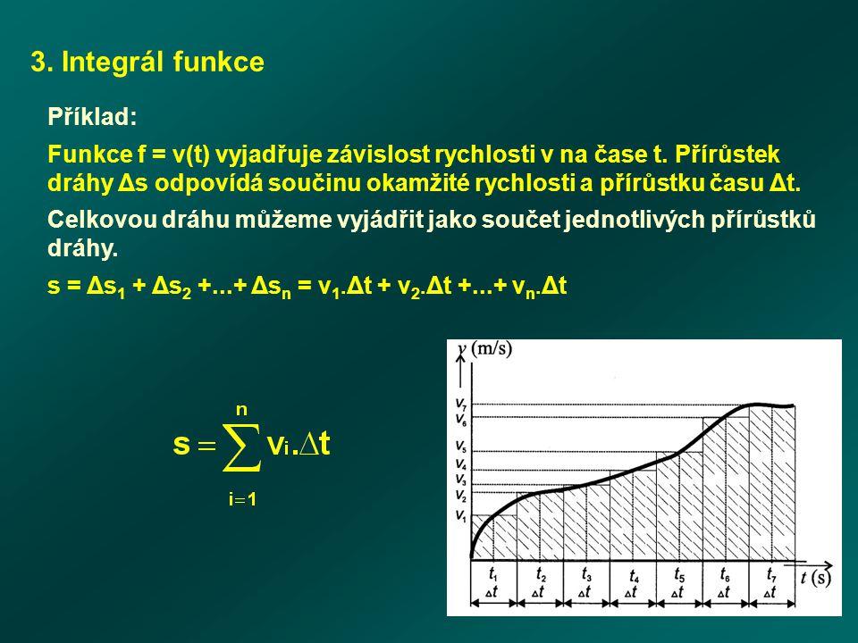 3. Integrál funkce Příklad:
