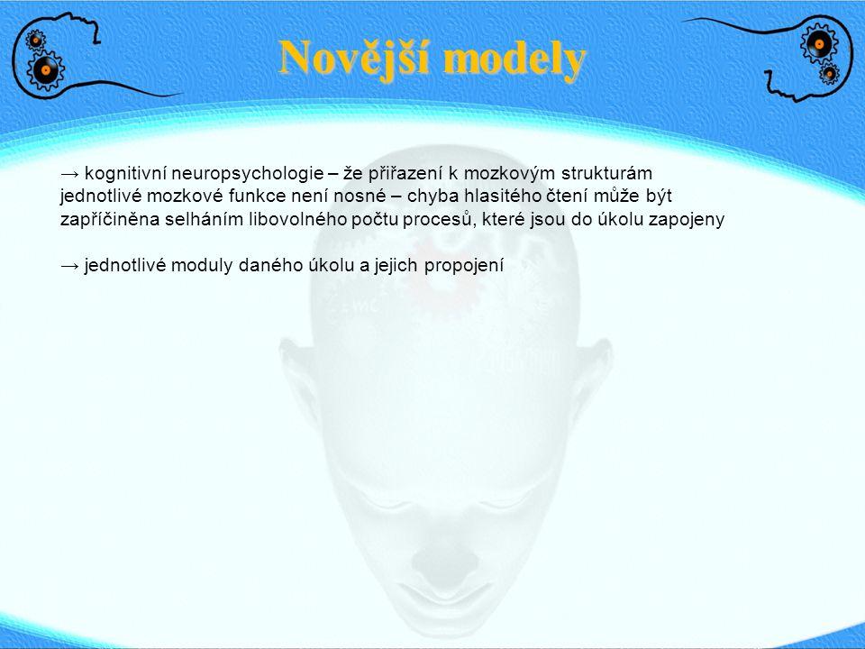 Novější modely
