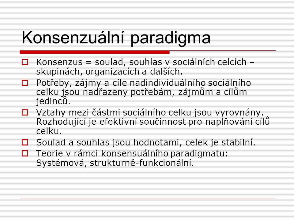 Konsenzuální paradigma