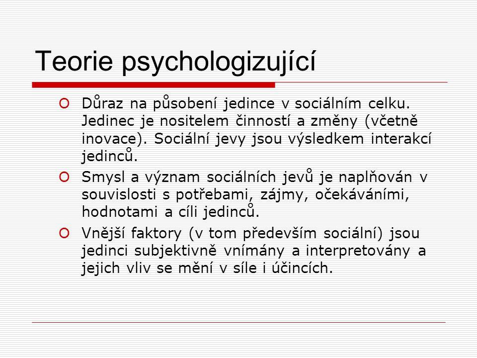 Teorie psychologizující