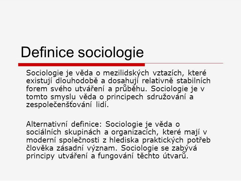 Definice sociologie