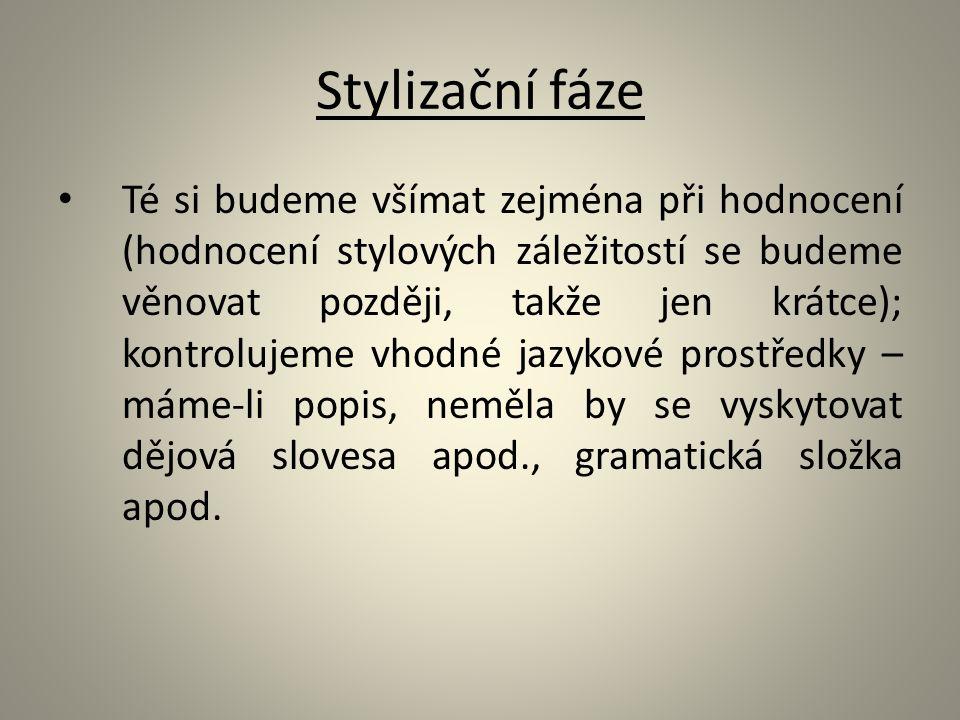 Stylizační fáze