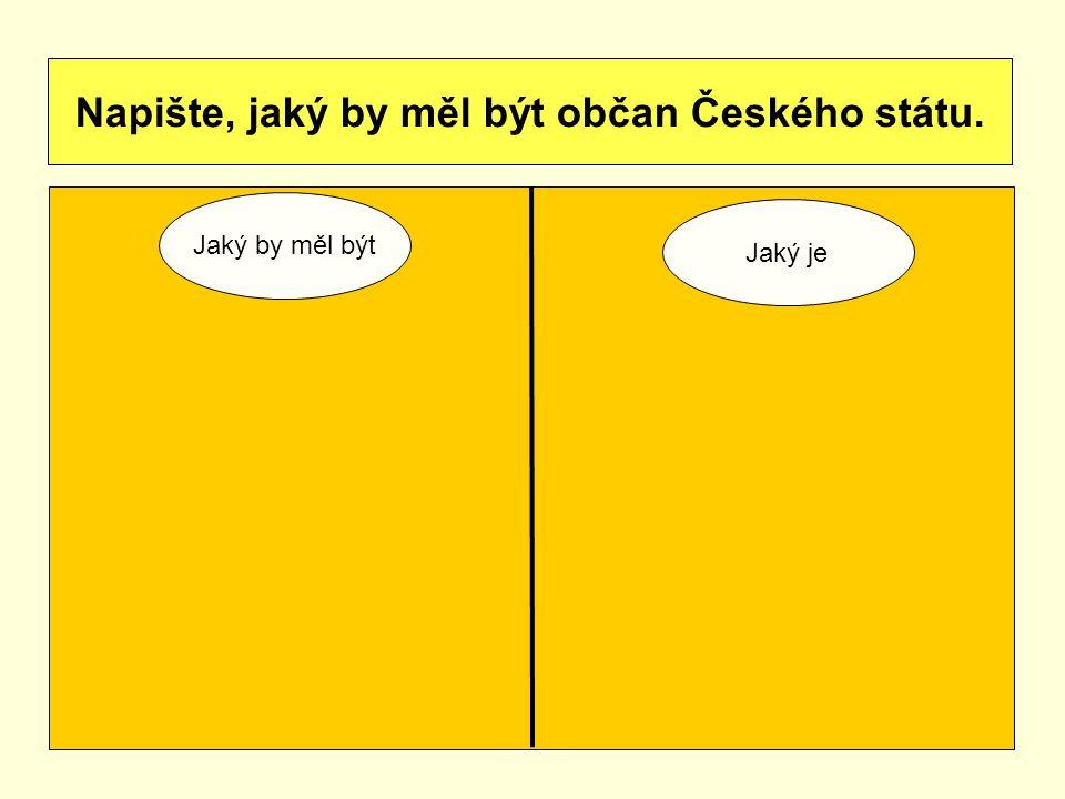 Napište, jaký by měl být občan Českého státu.