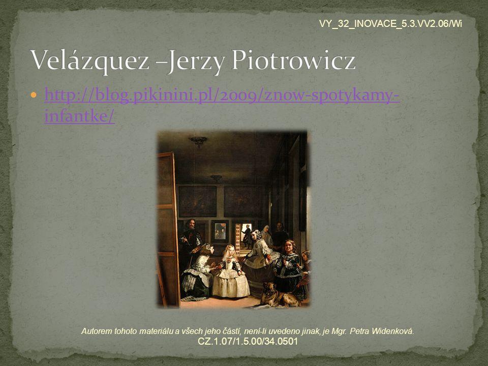 Velázquez –Jerzy Piotrowicz
