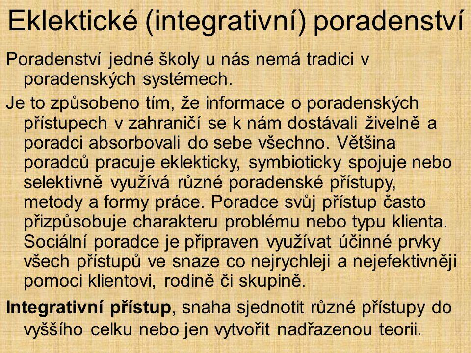 Eklektické (integrativní) poradenství