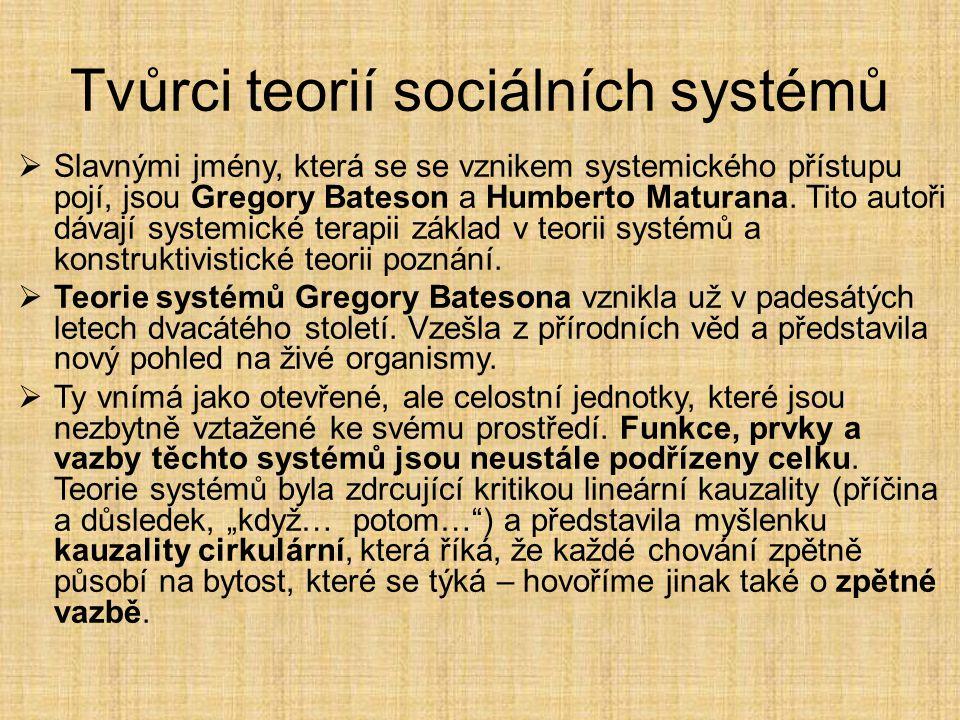 Tvůrci teorií sociálních systémů