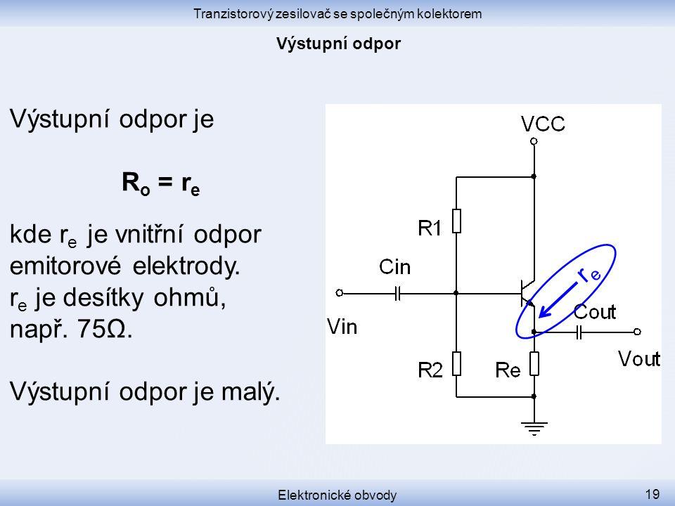 Tranzistorový zesilovač se společným kolektorem