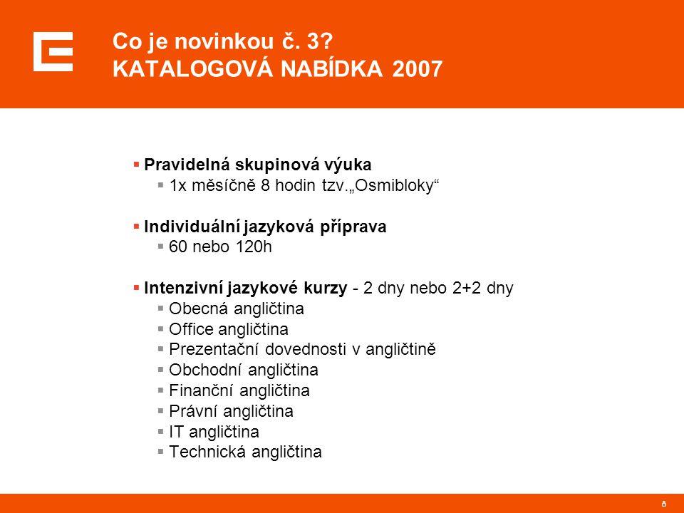 Co je novinkou č. 3 KATALOGOVÁ NABÍDKA 2007