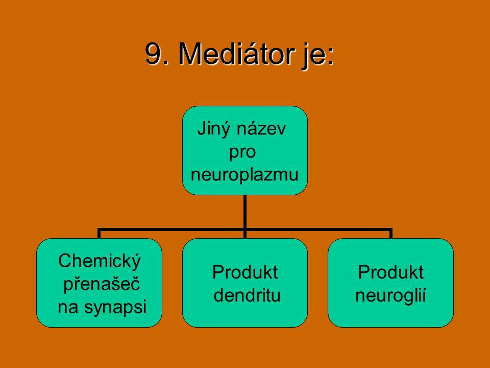 9. Mediátor je: