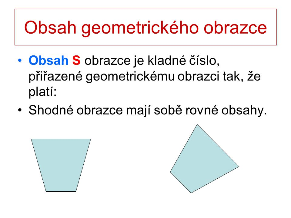 Obsah geometrického obrazce