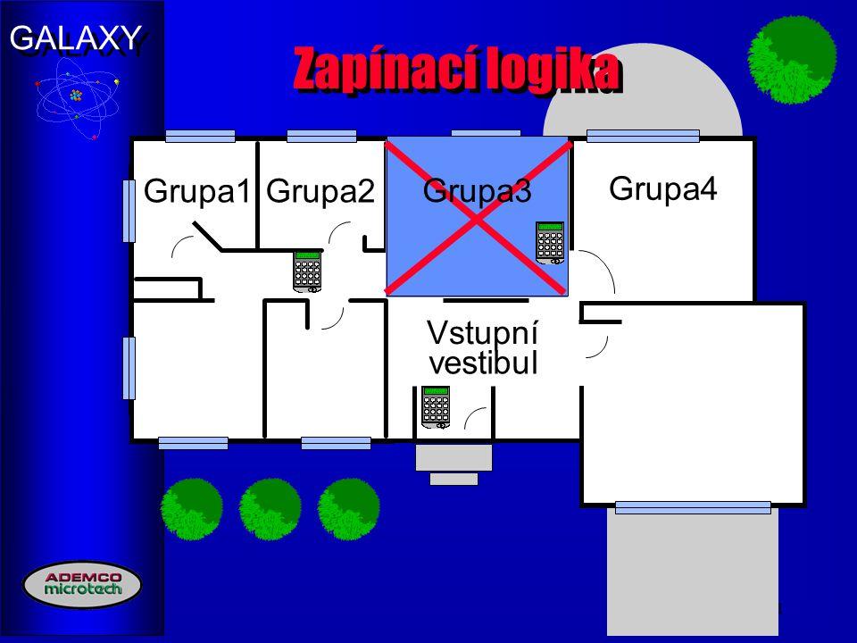 Zapínací logika Grupa1 Grupa2 Grupa3 Group3 Grupa4 Group3 Vstupní