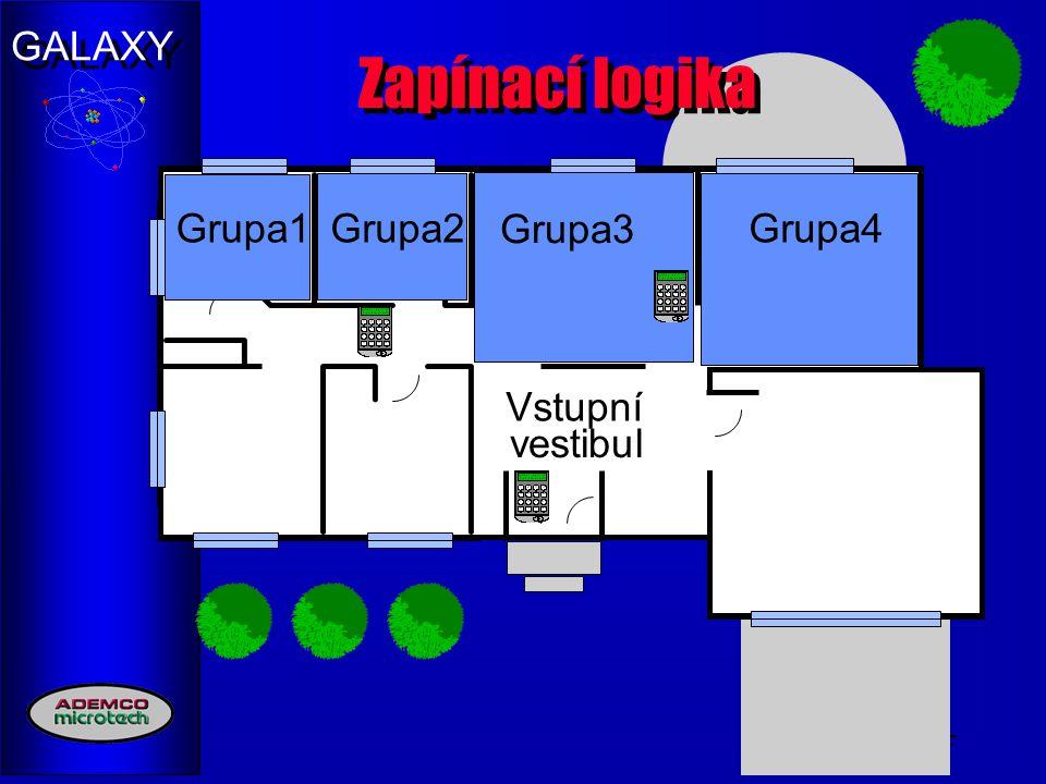 Zapínací logika Group1 Grupa1 Grupa2 Group2 Grupa3 Group3 Group4