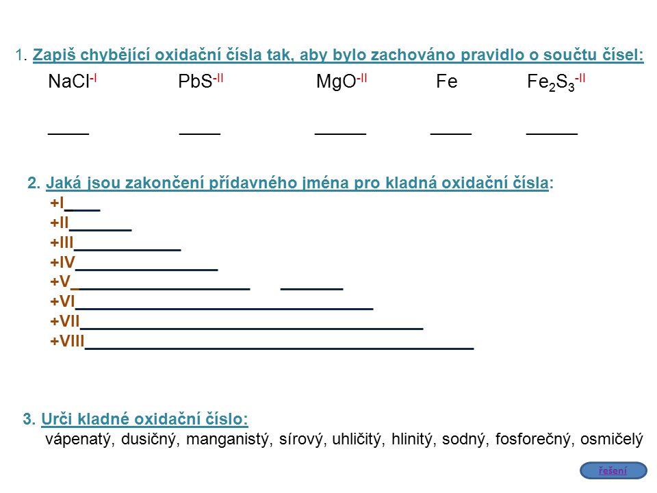 NaCl-I PbS-II MgO-II Fe Fe2S3-II ____ ____ _____ ____ _____