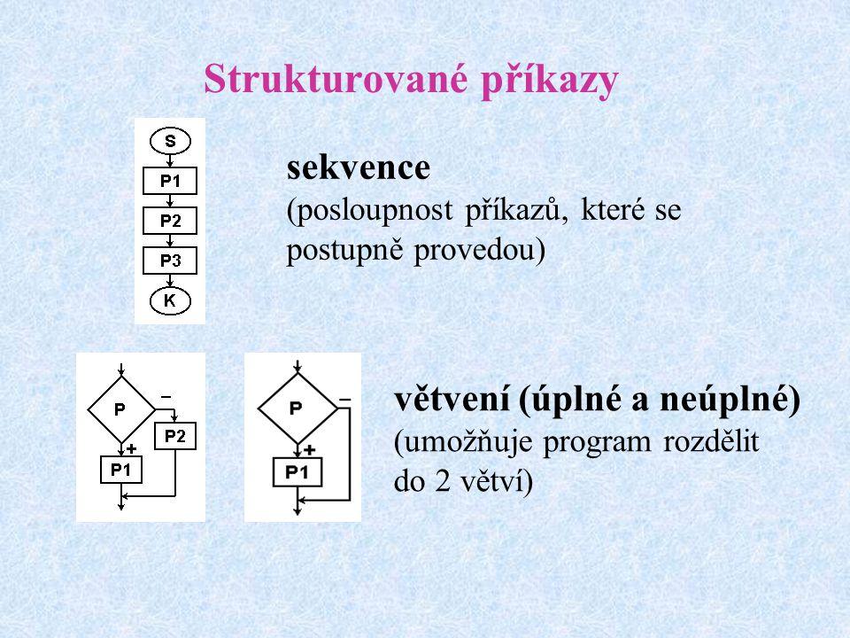 Strukturované příkazy