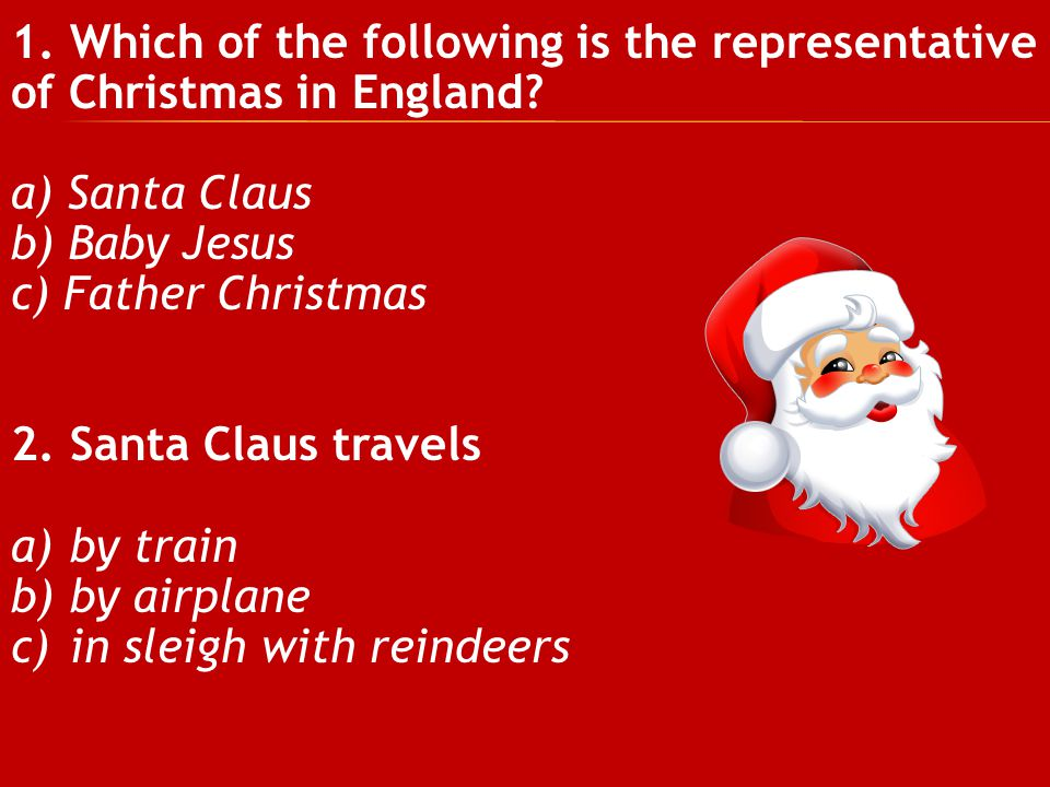 Which of the following is the representative of Christmas in England