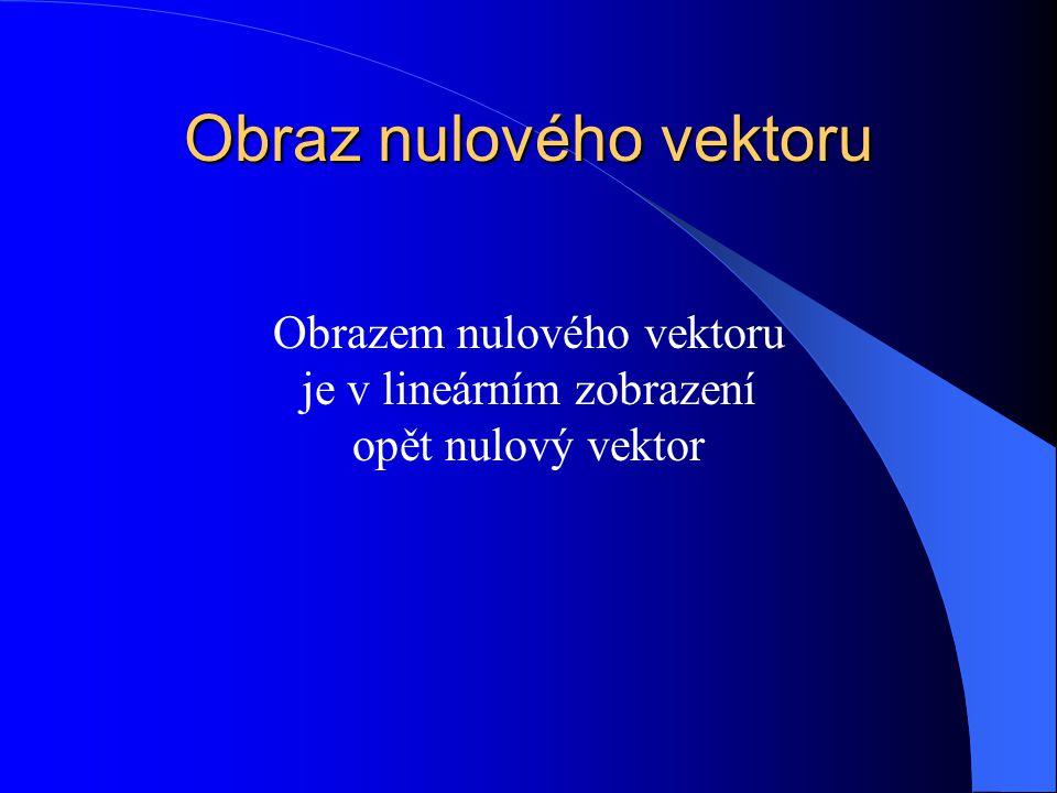 Obraz nulového vektoru