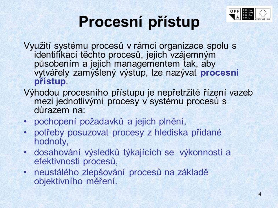 Procesní přístup