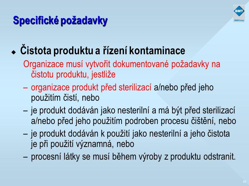 Čistota produktu a řízení kontaminace