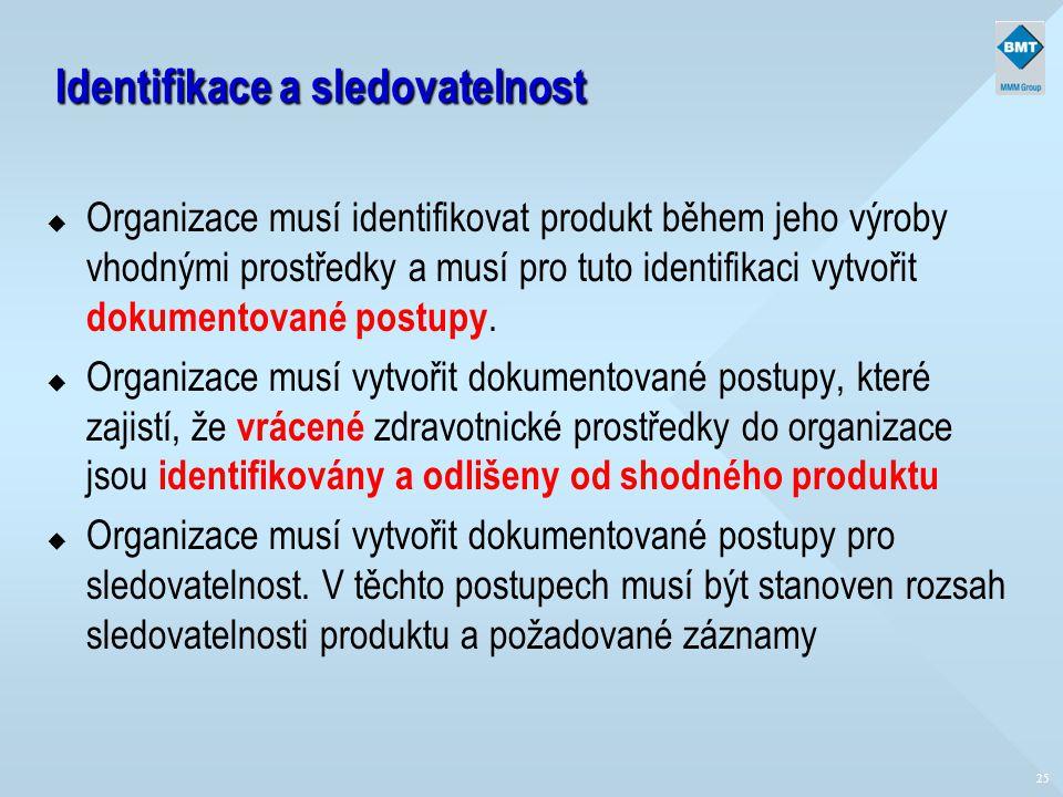 Identifikace a sledovatelnost