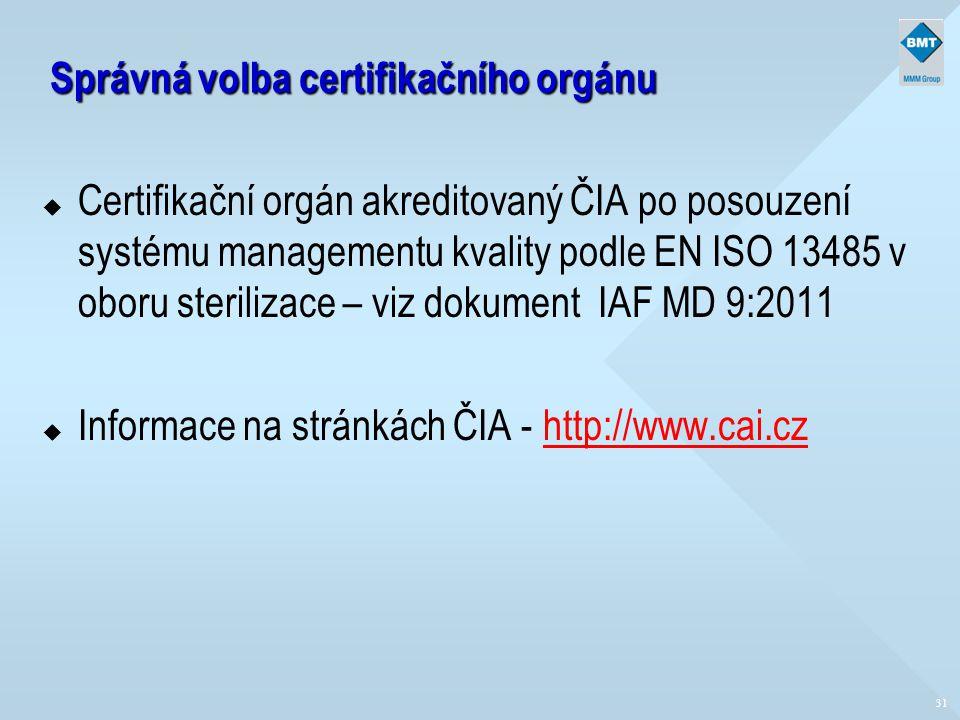 Správná volba certifikačního orgánu