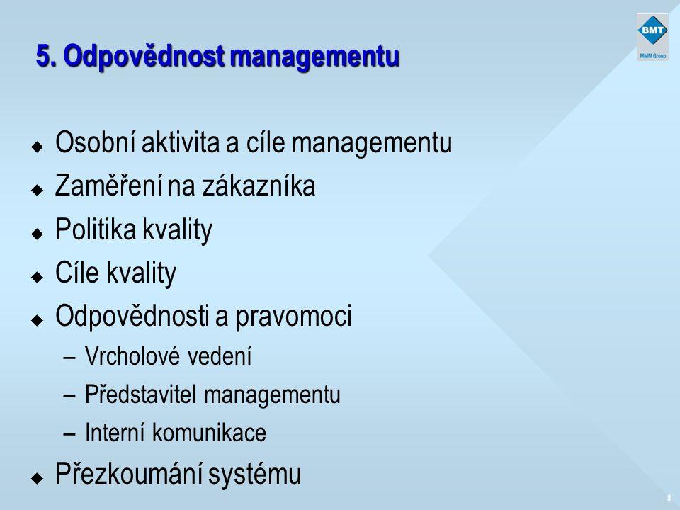 5. Odpovědnost managementu