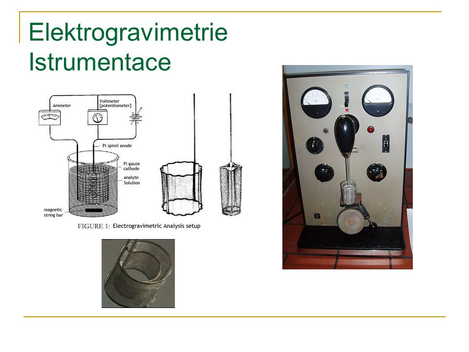 Elektrogravimetrie Istrumentace