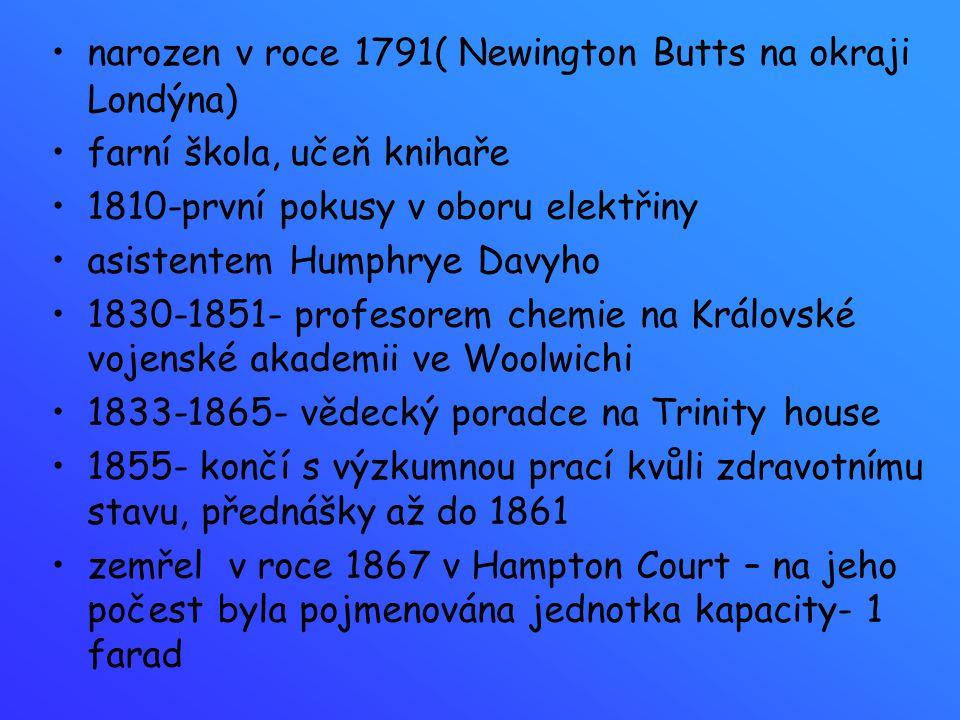 narozen v roce 1791( Newington Butts na okraji Londýna)