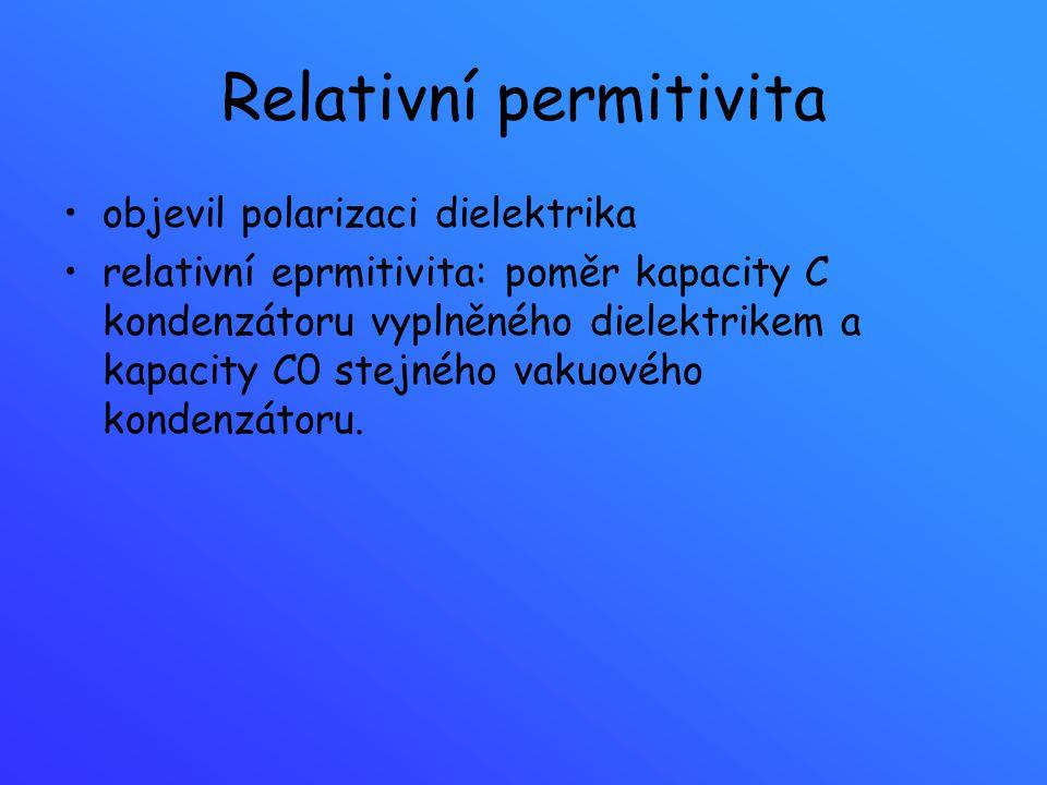 Relativní permitivita