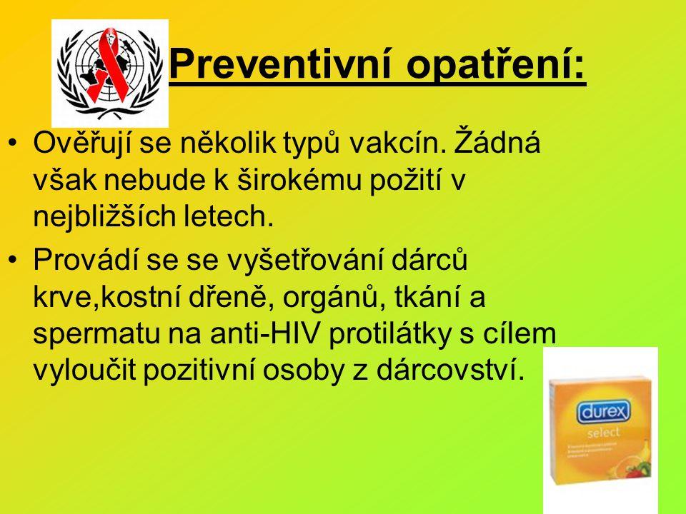 Preventivní opatření: