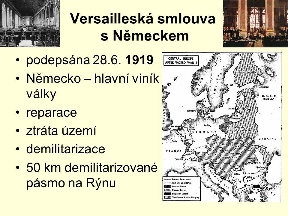 Versailleská smlouva s Německem