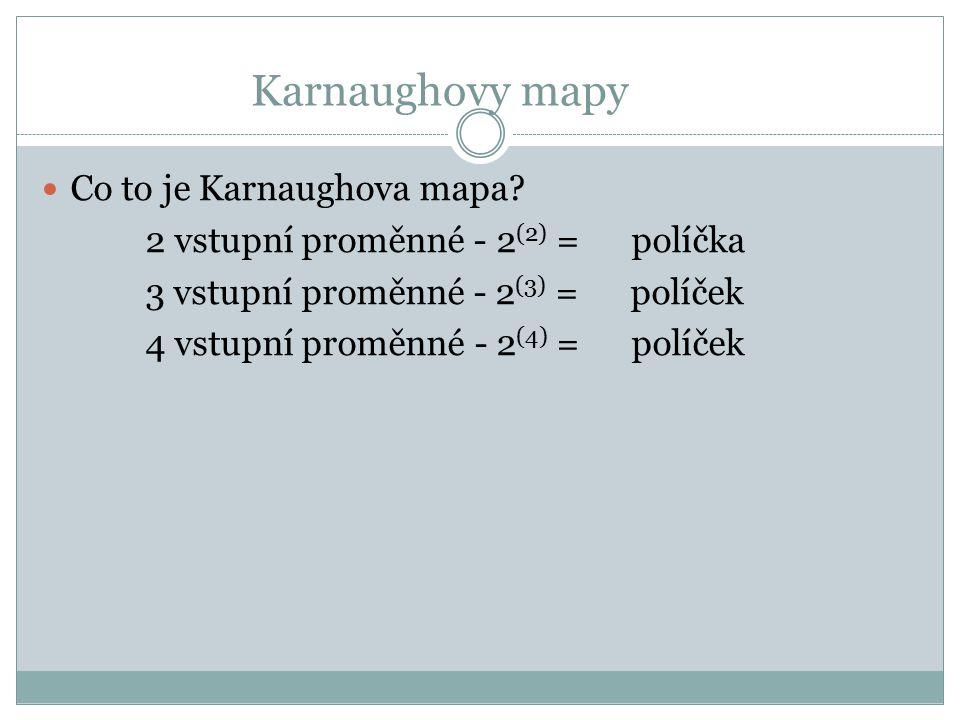 Karnaughovy mapy Co to je Karnaughova mapa