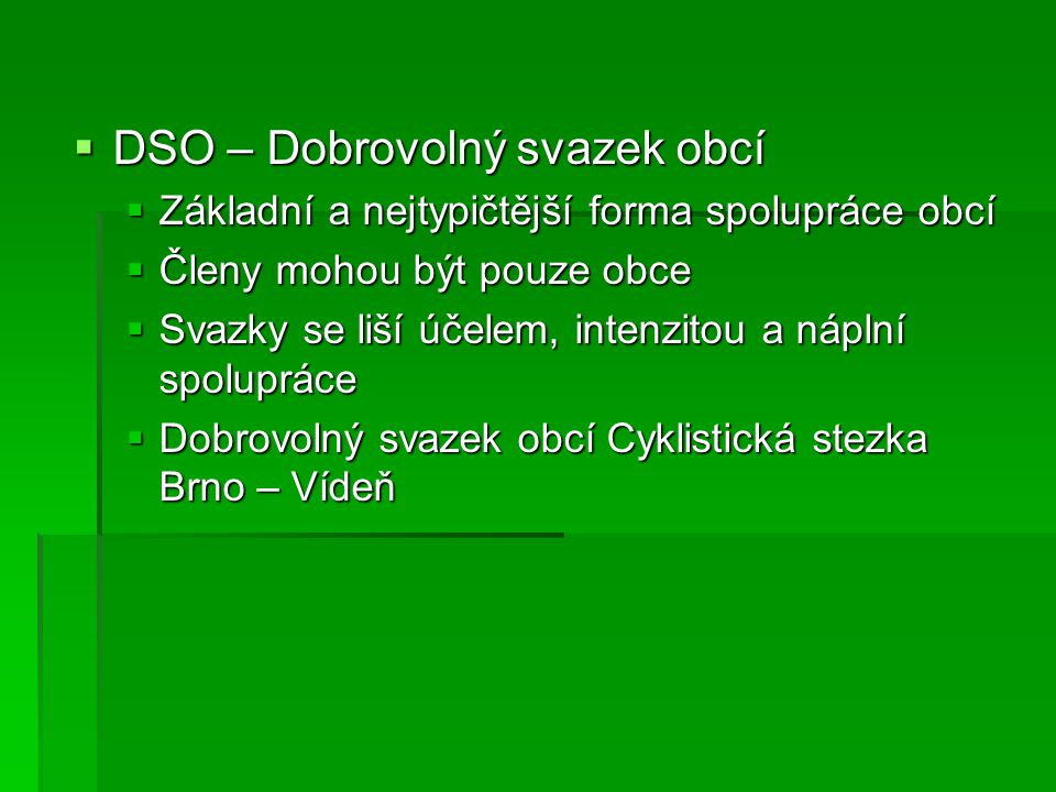 DSO – Dobrovolný svazek obcí