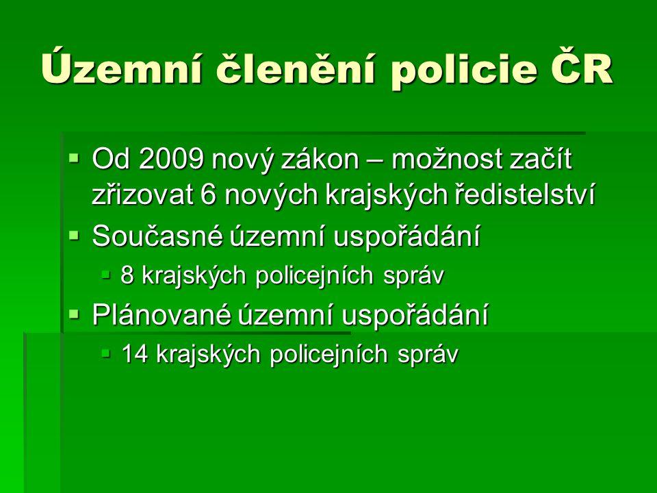 Územní členění policie ČR