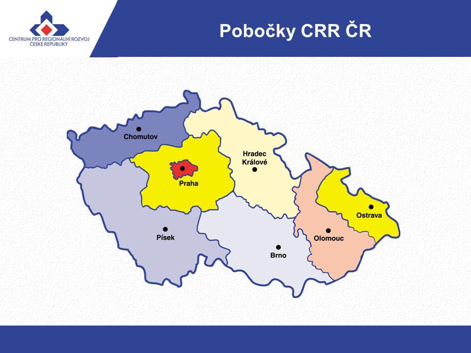 Pobočky CRR ČR