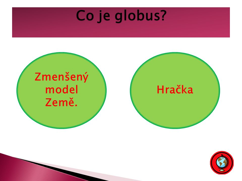 Co je globus Zmenšený model Země. Hračka
