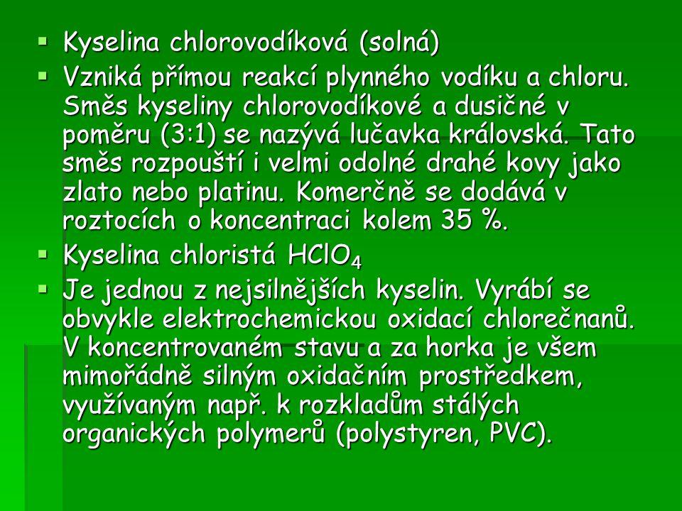 Kyselina chlorovodíková (solná)